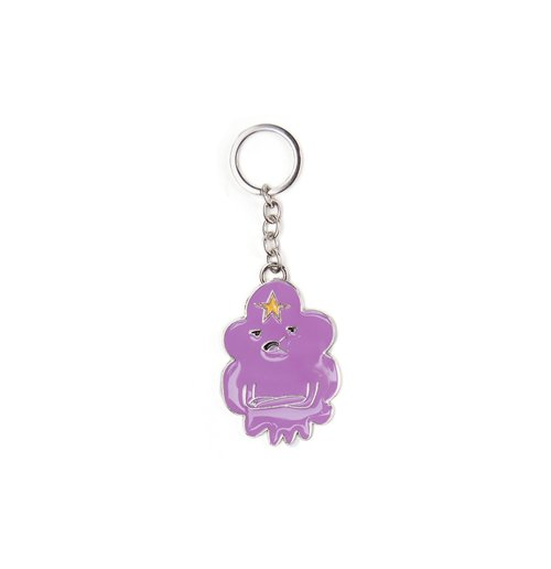 Adventure Time - Lumpy Space Princess Metal Keychain Metal Keychains U Purple bitcoin keychain Bitcoin Keychain img2