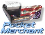 Pocket Merchant is a 2-track credit card reader and 42 column thermal receipt printer in one!