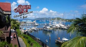 CaribbeanSaloon w. logo and harbor view