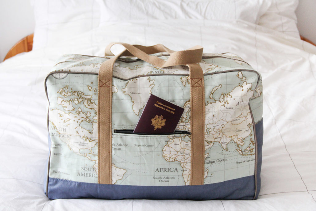 diy couture sace de voyage globe