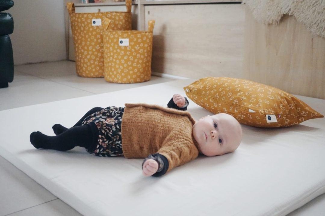 tapis montessori pour bebe en coton bio