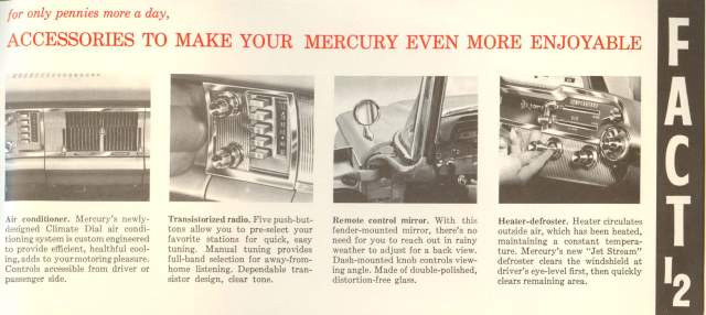 1960 Mercury Fact Booklet Page 15