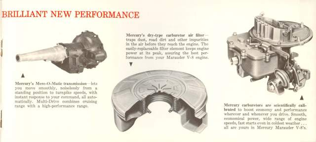 1960 Mercury Fact Booklet Page 9
