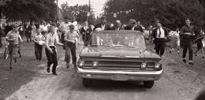JFK and his Park Lane convertible