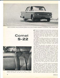 1961 Comet S-22 Road Test Pg 1
