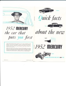 Quick Facts About the New 1952 Mercury Pg 1