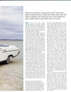 "Collectible Automobile February 2000 ""1961 - 64 Mercury: Downwardly Mobile"" Pg 2"