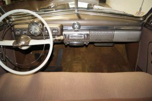 1949 Mercury Coupe Dash (note optional steering wheel)
