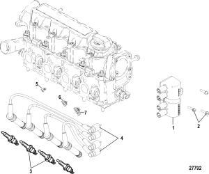 Каталог запчастей MERCRUISER остальные 100 VAZER EC 1A035295 & Up — Запасные части — Компания