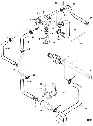 Каталог запчастей MERCRUISER остальные 74LX BRAVO (MPI)(GEN VI) GM 454 V8 19961997 0F802000