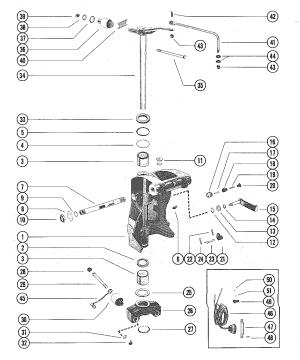 Каталог запчастей MERCURY  старые V225 5628028 AND UP — Запасные части — Компания «Лакор