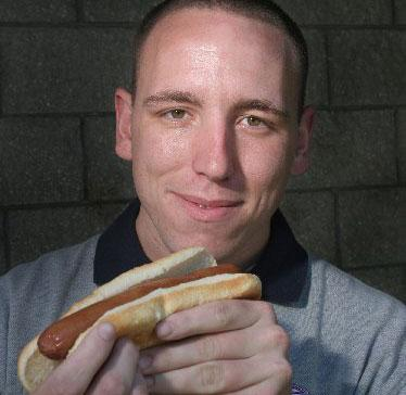 Competitive eater Joey Chestnut of San Jose.
