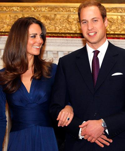 FILE - In this Nov. 16, 2010 file photo, Britain's Prince William and his fiancee Kate Middleton are seen at St. James's Palace in London, after they announced their engagement. Prince William and Kate Middleton will marry April 29, 2011 in Westminster Abbey, the historic London church where Princess Diana's funeral was held, royal officials said Tuesday, Nov. 23, 2010. (AP Photo/Kirsty Wigglesworth, file)
