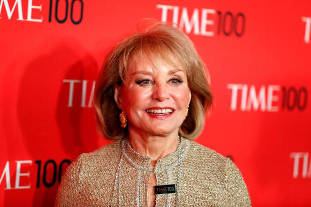 Journalist Barbara Walters arrives for the Time 100 gala celebrating the magazine's naming of the 100 most influential people in the world for the past year, in New York, in this April 23, 2013 photo.