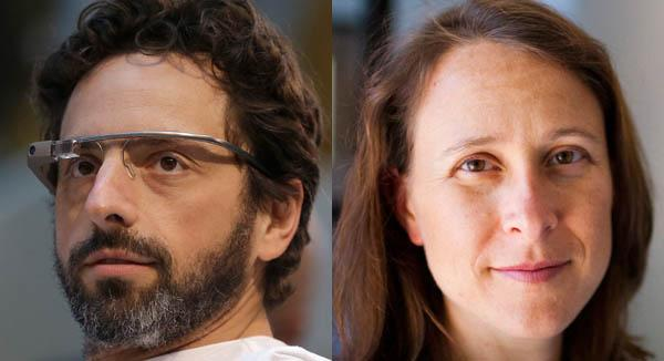 Google co-founder Sergey Brin and 23andme co-founder Anne Wojcicki.(Photos by Jeff Chiu/Associated Press and Dai Sugano/Staff)