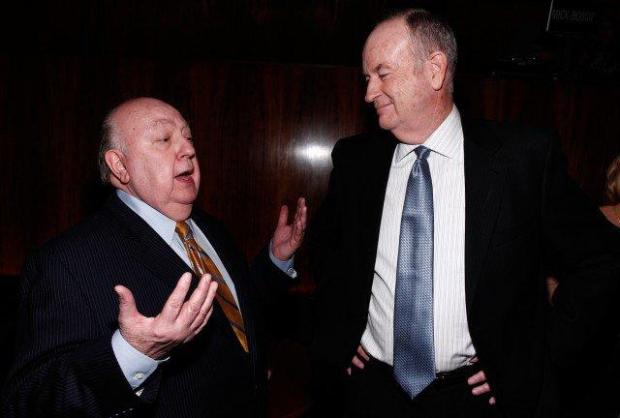 Roger Ailes, left, and Bill Oâ Reilly are seen at The Hollywood Reporter 35 Most Powerful People in Media event on Wednesday, April 11, 2012 in New York.