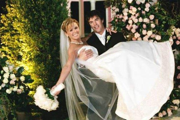 "Trista and Ryan Sutter of ""The Bachelorette"" tied the knot in an ABC special on Dec. 6, 2003."