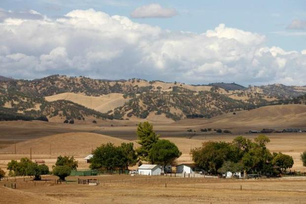 Mary Well's ranch sits in the middle of the proposed Sites Reservoir in Maxwell, Calif., on Friday, Sept. 26, 2014. The ranch she has owned for 40 years will one day be submerged underwater if the reservoir is built. (Gary Reyes/Bay Area News Group)