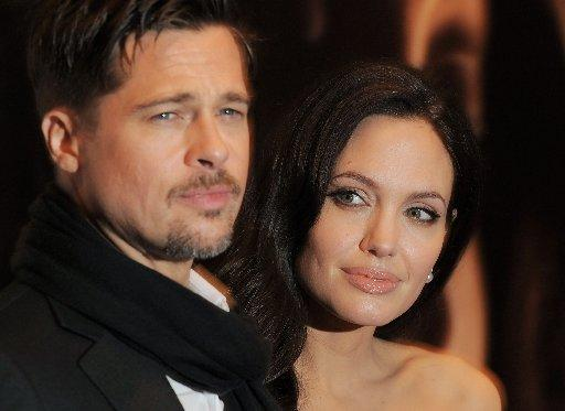 """Brad Pitt and Angelina Jolie attend a New York Film Festival screening of """"Changeling"""" at the Ziegfeld Theatre on Saturday, Oct. 4, 2008 in New York."""