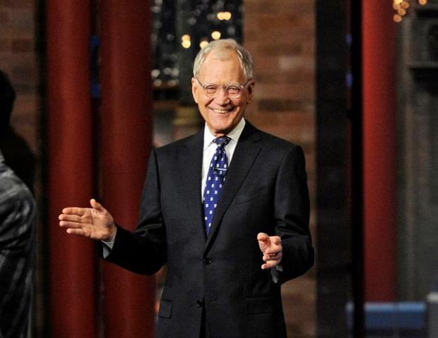 "David Letterman appears during a taping of his final ""Late Show with David Letterman, "" Wednesday, May 20, 2015 at the Ed Sullivan Theater in New York. (Jeffrey R. Staab/CBS via AP)"