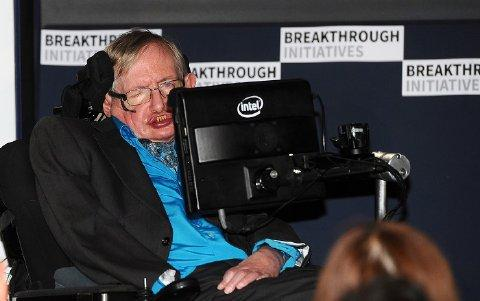 LONDON, ENGLAND - JULY 20: Theoretical Physicist Stephen Hawking attends a press conference on the Breakthrough Life in the Universe Initiatives, hosted by Yuri Milner and Stephen Hawking, at The Royal Society on July 20, 2015 in London, England. (Photo by Stuart C. Wilson/Getty Images for Breakthrough Initiatives)