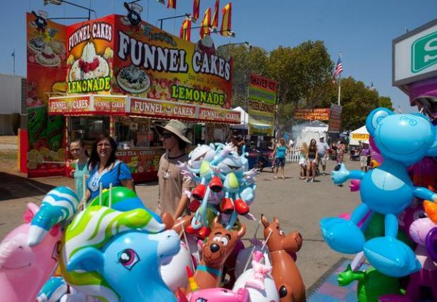 Visitors enjoy the Santa Clara County Fair in San Jose, Calif., Saturday, Aug. 1, 2015. (Patrick Tehan/Bay Area News Group)