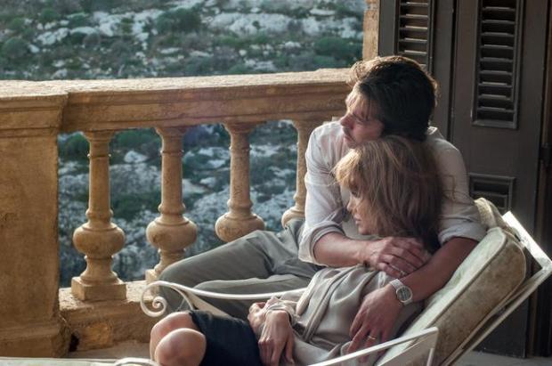 Brad Pitt as Roland and Angelina Jolie Pitt as Vanessa in 'By the Sea.' (Merrick Morton/Universal Pictures)