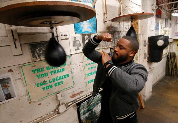 "Movie director Ryan Coogler is photographed at King's Boxing Gym in Oakland on Nov. 17, 2015. Coogler directed the new boxing movie, ""Creed."""