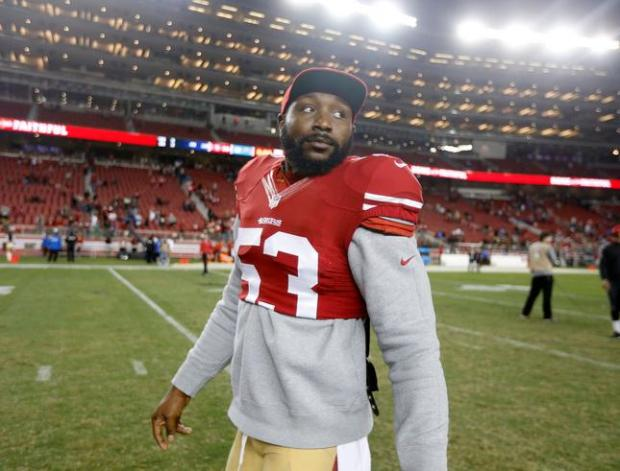 San Francisco 49ers' NaVorro Bowman (53) walks off the field following their 14-12 win against the San Diego Chargers for their NFL preseason game at Levi's Stadium in Santa Clara, Calif., on Thursday, Sept. 3, 2015. (Nhat V. Meyer/Bay Area News Group)