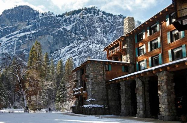 The Ahwahnee Hotel is photographed in Yosemite National Park, Calif., on Tuesday, Dec. 29, 2015. (Laura A. Oda/Bay Area News Group)