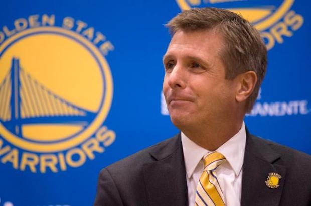 Rick Welts, the newly-named president and chief operating officer of the Golden State Warriors, answers questions from the media during a press conference at team headquarters, Tuesday, Sept. 27, 2011 in Oakland, Calif. (D. Ross Cameron/Staff)