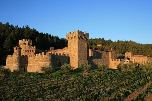 JIM SULLIVANCastello di Amorosa winery in Napa Valley not only produces great wines,but offers tours of its stunning building, modeled after a 13th-centuryTuscan castle.