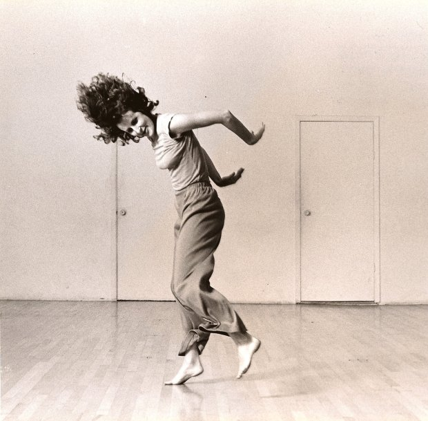 "Choreographer-dancer Trisha Brown in ""Watermotor"" (1978); Brown's creativity will be explored and celebrated by the Hope More Dance Project in ""Ten Artists Respond to Locus,"" Oct. 14-15 at San Francisco's Yerba Buena Center for the Arts. (Lois Greenfield)"