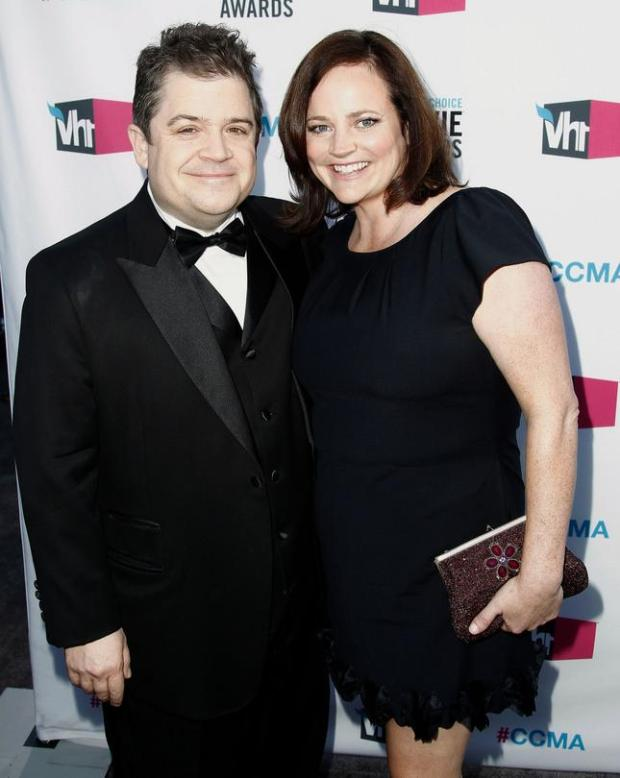 FILE - In this Jan. 12, 2012 file photo, Patton Oswalt, left, and his wife Michelle Eileen McNamara arrive at the 17th Annual Critics' Choice Movie Awards in Los Angeles. Oswalt has authored a touching essay for Time that was published on May 3, 2016, nearly two weeks after McNamara's unexpected death. (AP Photo/Matt Sayles, File)