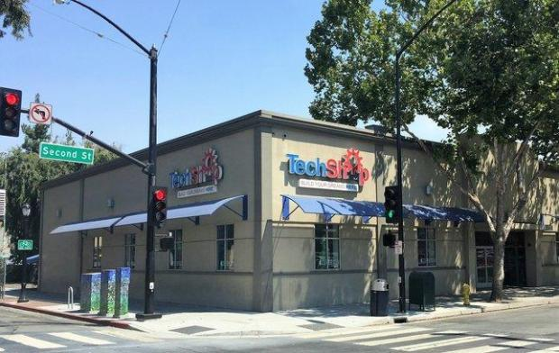 TechShop San Jose has run into a $1 million funding gap in its plan to movefrom its current location at 300 S. Second St,, shown here, to a new homeat the old Zanotto's grocery store two blocks away. (Sal Pizarro/Staff)