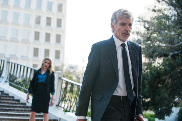 "This image released by Amazon shows Billy Bob Thornton in a scene from, ""Goliath,"" premiering on Oct. 14. (Colleen E. Hayes/Amazon via AP)"