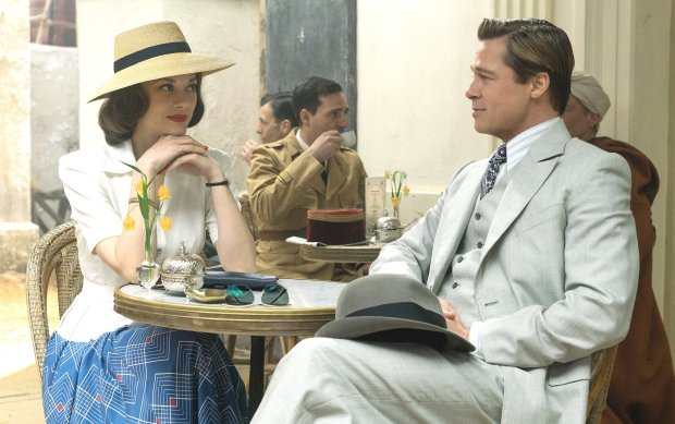 "Marion Cotillard, left, and Brad Pitt in ""Allied."" (Daniel Smith/Paramount Pictures)"