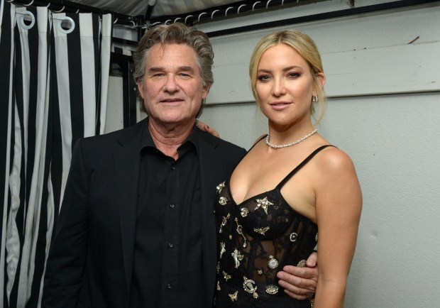 """TORONTO, ON - SEPTEMBER 13:  Actors Kurt Russell (L) and Kate Hudson attend the """"Deepwater Horizon"""" premiere screening party presented by Johnnie Walker at The Addison Residence on September 13, 2016 in Toronto, Canada.  (Photo by Matt Winkelmeyer/Getty Images for Brilliant Consulting )"""