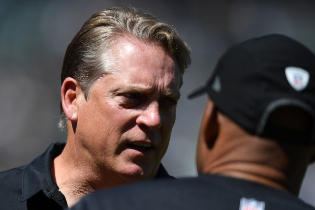 OAKLAND, CA - SEPTEMBER 18: Head coach Jack Del Rio of the Oakland Raiders stands on the sidelines prior to their NFL game against the Atlanta Falcons at Oakland-Alameda County Coliseum on September 18, 2016 in Oakland, California. (Photo by Thearon W. Henderson/Getty Images)