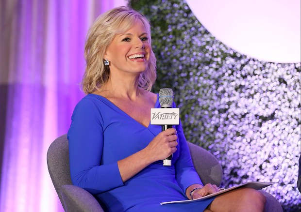 BEVERLY HILLS, CA - JUNE 12: (L-R) Fox News Channel Host Gretchen Carlson speaks onstage during a 'Fireside Chat on Persecuted' panel at Variety's Purpose: The Family Entertainment and Faith-Based Summit in association with Rogers And Cowan at Four Seasons Hotel Los Angeles at Beverly Hills on June 12, 2014 in Beverly Hills, California. (Photo by Rich Polk/Getty Images for Variety)