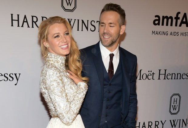 "FILE - In this Feb. 10, 2016, file photo, Blake Lively, left, and Ryan Reynolds attend amfAR's New York Gala honoring Harvey Weinstein at Cipriani Wall Street in New York. Lively told NBC's ""Today"" show on Monday, June 20, 2016, that she and Reynolds hope to have a big family. (Photo by Charles Sykes/Invision/AP, File)"