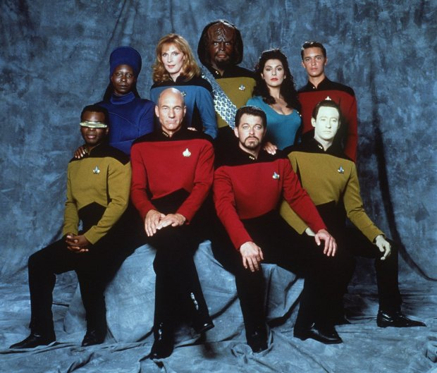 Cast for Star Trek: The Next Generation.