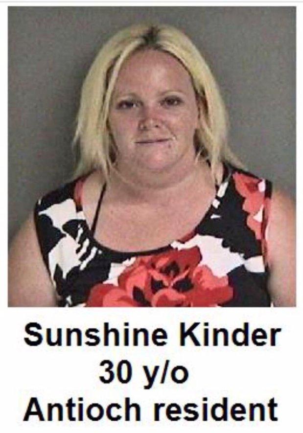 Sunshine Kinder, 30, of Antioch (Fremont Police Department)