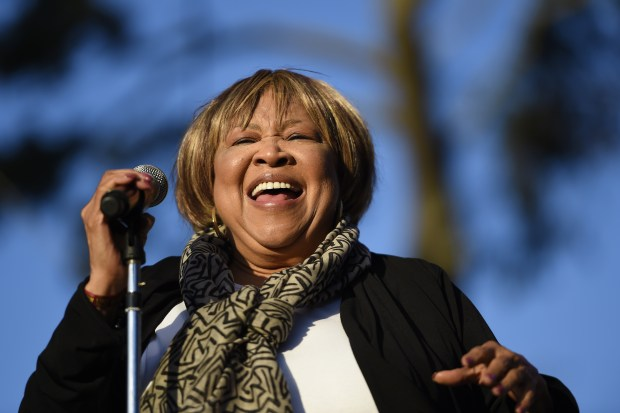 Mavis Staples performs on stage during the Hardly Strictly Bluegrass music festival at Golden Gate Park in San Francisco, Calif., on Friday, Sept. 30, 2016. (Jose Fajardo/Bay Area News Group)