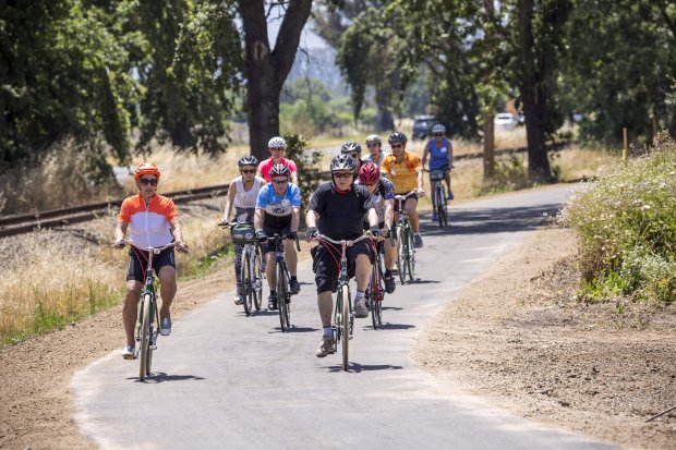 Napa Valley's new bicycle trail connects vineyards, wineries and Napa's adorable downtown via miles of paved, bike-friendly paths. (Photo: Tubay Yabut Photography)