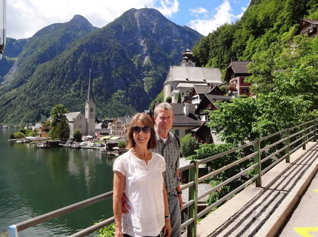 Courtesy of the Bonin Family San Jose residents Jan and Mike Bonin visited Austria this summer on a trip that included a few days in Hallstatt, pictured.