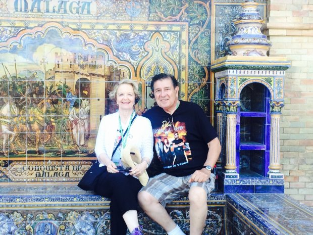 Courtesy of Vic Cesena SPAIN: Joyce Kelley and Vic Cesena of Saratoga traveled to Spain this spring on a trip that included a stop in Seville.