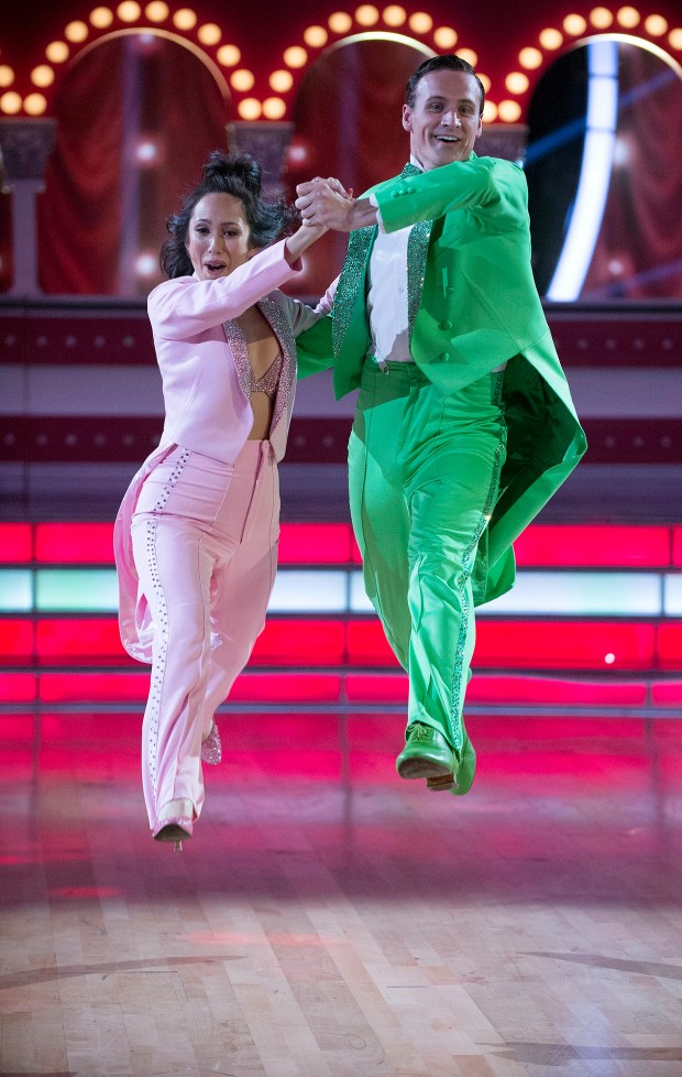 """DANCING WITH THE STARS - """"Episode 2302"""" - The 13 celebrities get ready to dance to some of their favorite TV theme songs as TV Night comes to """"Dancing with the Stars,"""" live, MONDAY, SEPTEMBER 19 (8:00-10:01 p.m. EDT), on the ABC Television Network. (ABC/Eric McCandless) CHERYL BURKE, RYAN LOCHTE"""