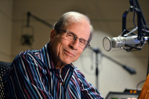 "KQED ""Forum"" host Michael Krasny, who has a new book out called ""Let There Be Laughter: A Treasury of Great Jewish Humor and What It All Means,"" is photographed at the radio station in San Francisco, Calif. on Monday, Aug. 29, 2016. (Kristopher Skinner/Bay Area News Group)"