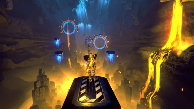 """""""ReCore"""" is filled with challenge rooms that reward skillful players."""